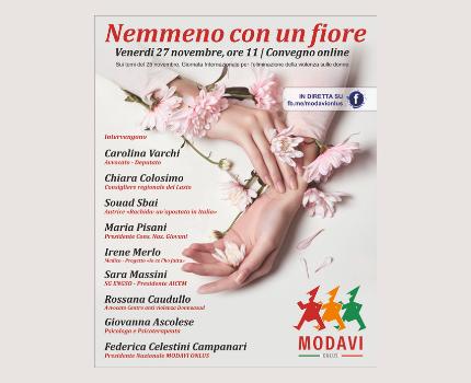 """Convegno """"Nemmeno con un fiore"""" organizzato dal MODAVI ONLUS"""